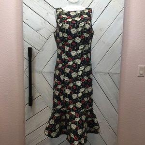 Eva Mendez NY & Co Floral Tapestry Wiggle Dress
